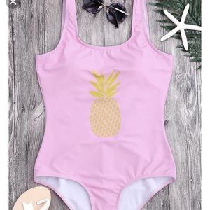 Zaful Pineapple 🍍 Print U Back Onepiece Swimsuit
